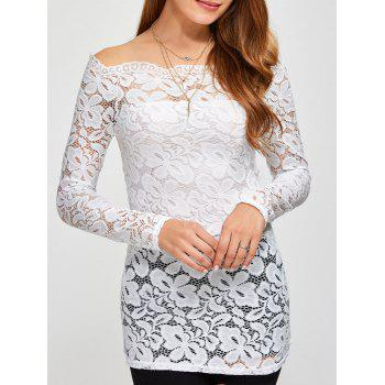 Off The Shoulder Scalloped Lace Blouse