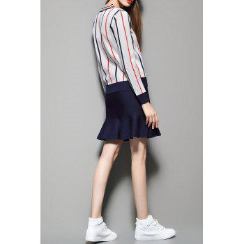 Stripe Sweater with Mini Mermaid Skirt - OFF WHITE ONE SIZE