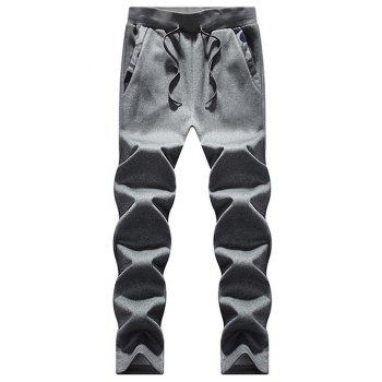 Zip Up Camouflage Insert Hoodie and Sweatpants - DEEP GRAY M