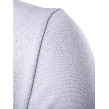 Two Tone Long Sleeve Pullover Hoodie - WHITE L