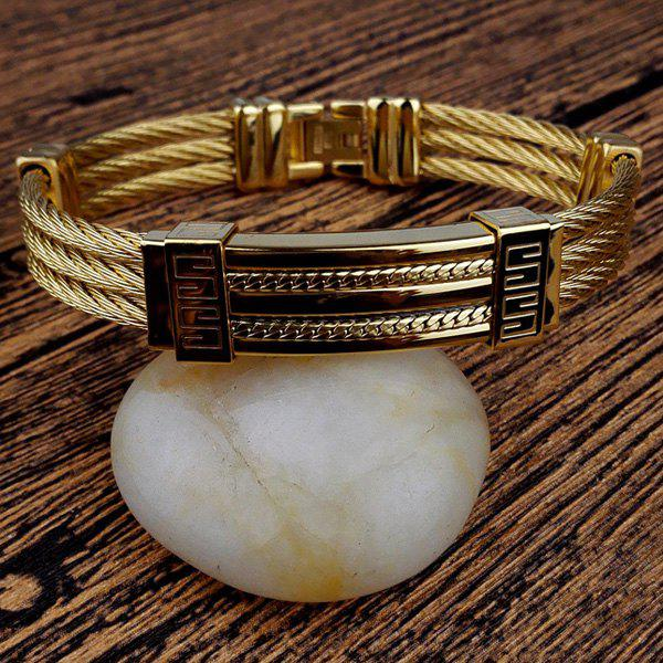 Twisted Chain Layered Bracelet - GOLDEN