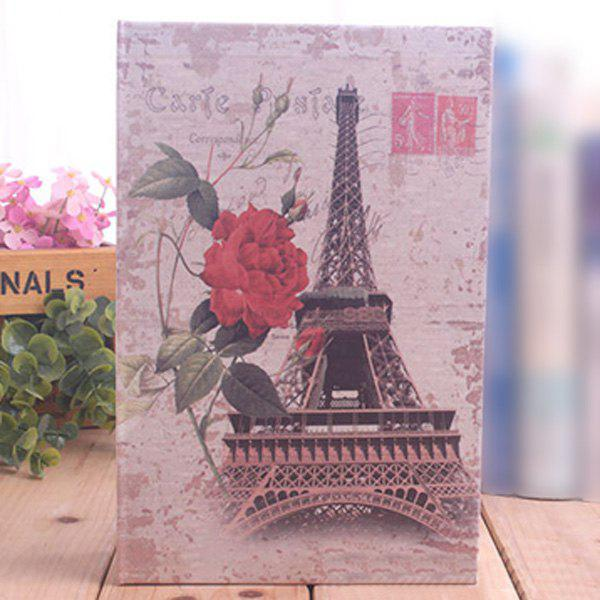 Book Design Paris Tower Password Storage Box multifunctional wooden storage box mobile phone repair tool box motherboard accessories storage box