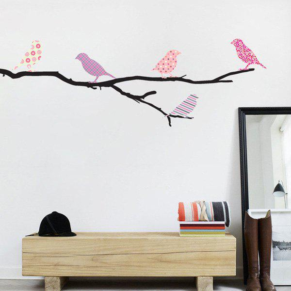 Perched Birds Removable Wall Stickers - COLORMIX