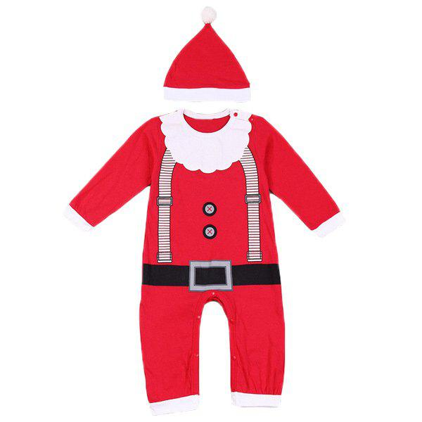 Christmas Overalls Costume Set For Infant - RED L