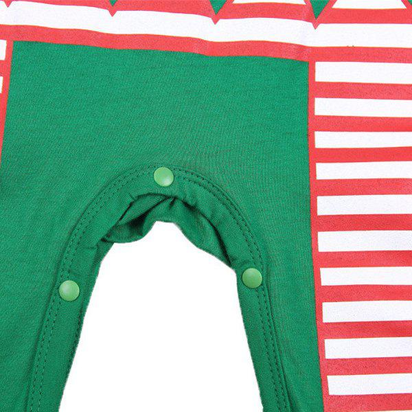 Christmas Overalls Costume Set For Infant - GREEN L