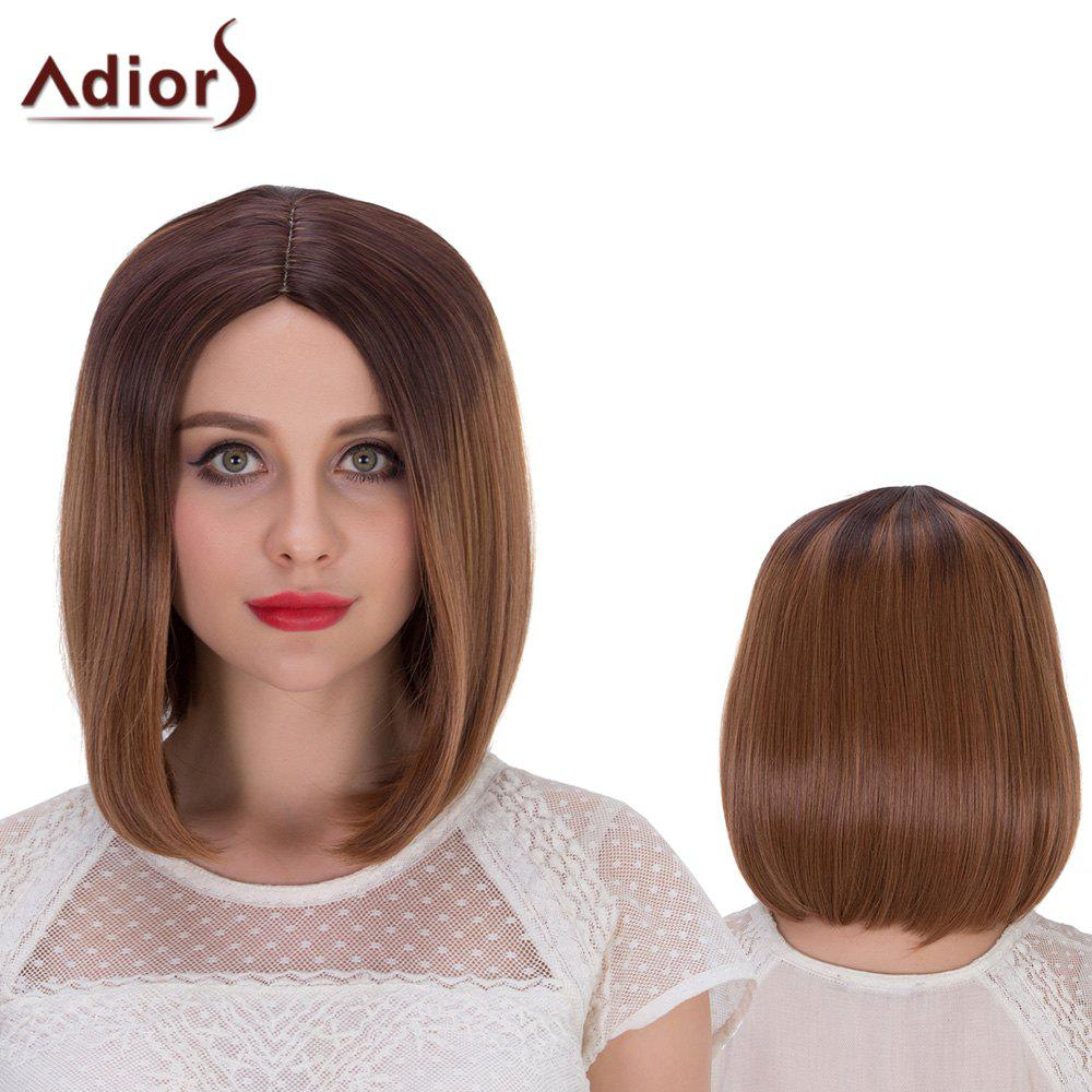 Adiors Hair Short Mixed Color Centre Parting Straight Synthetic Wig