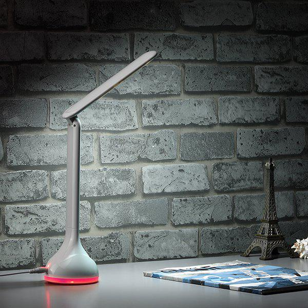 USB Recharge Study Eye Protective LED Table LampHome<br><br><br>Color: WHITE