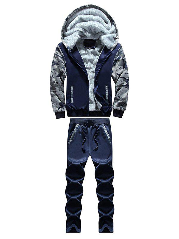 Zip Up Camouflage Insert Hoodie and Sweatpants zip up camouflage insert hoodie and sweatpants