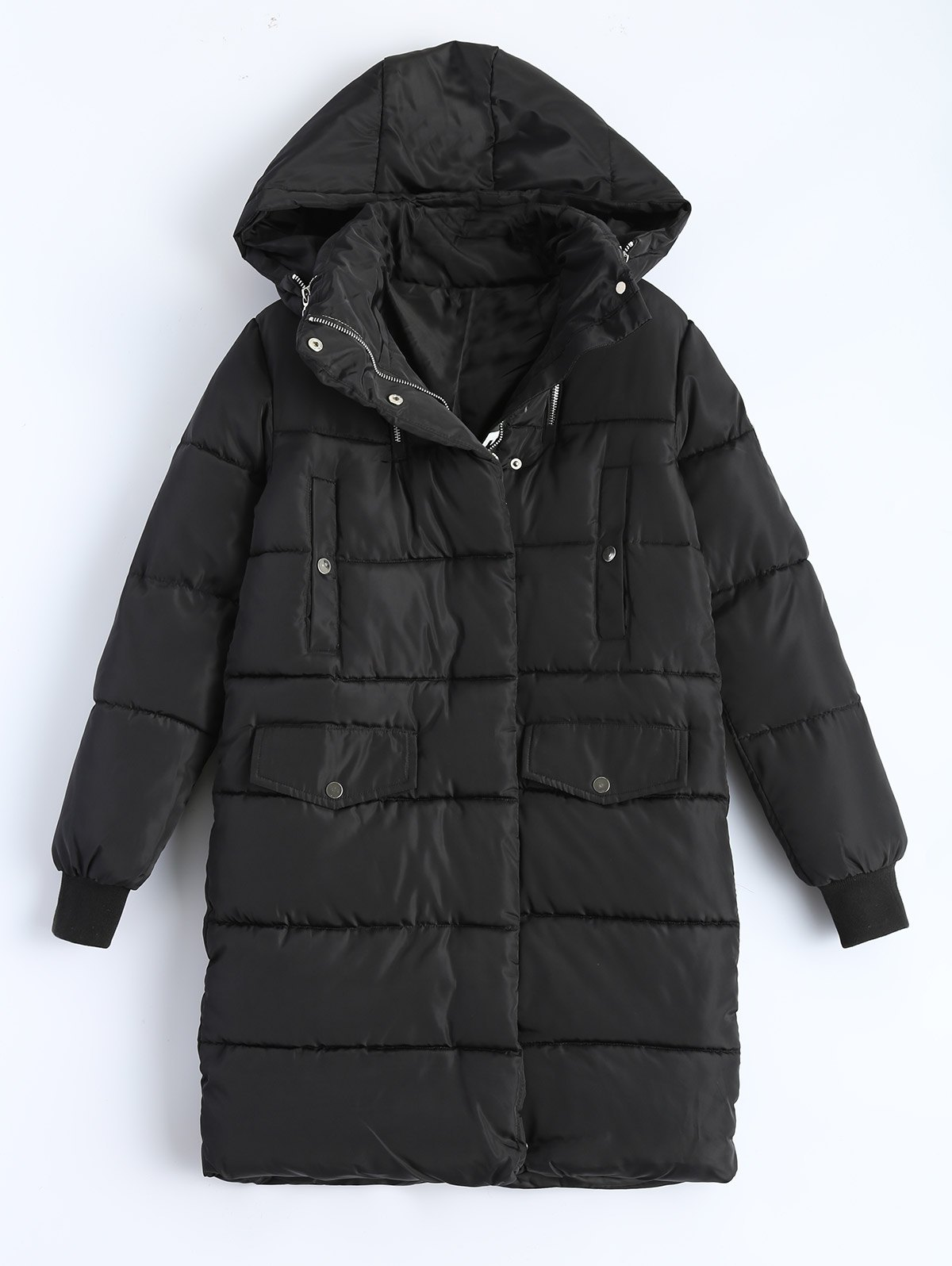 Image of Hooded Padded Snow Coat