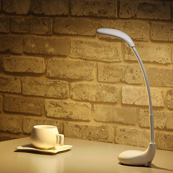 Lampe de table LED pliable contact switch protéger yeux - Blanc
