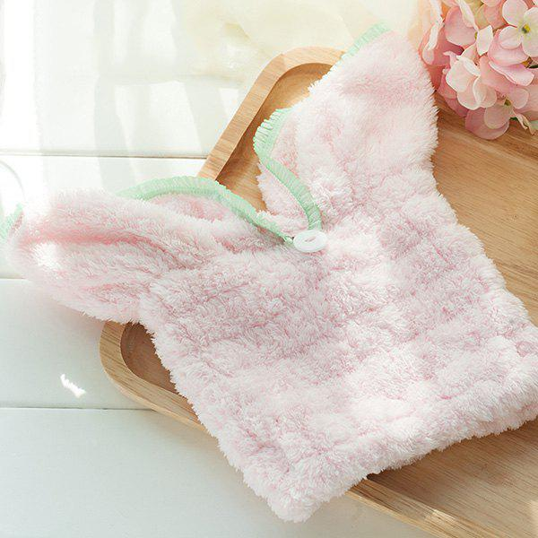Rabbit Ear Hair Drying Hat - PINK