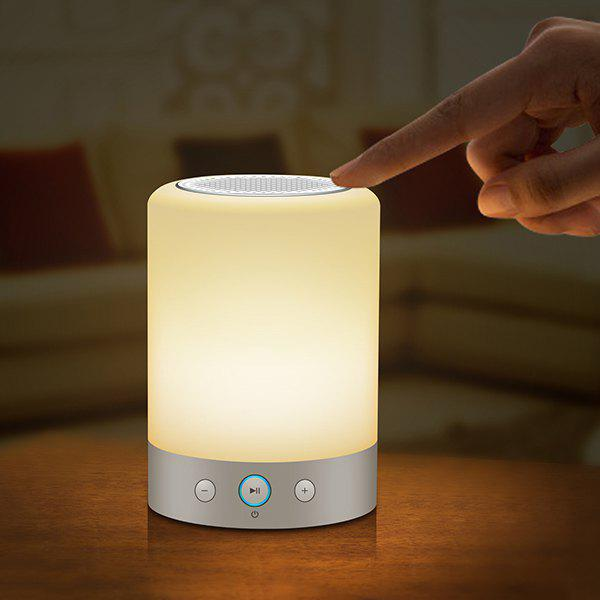 Smart Bluetooth Loudspeaker Sound System Night LightHome<br><br><br>Color: WHITE