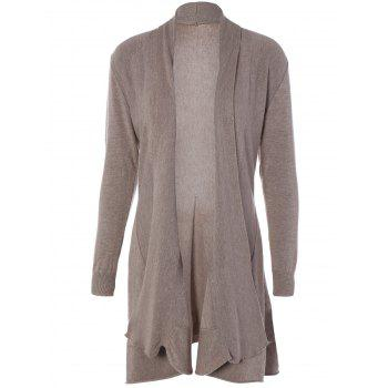 Drop Shoulder Knitted Long Sleeve Cardigan