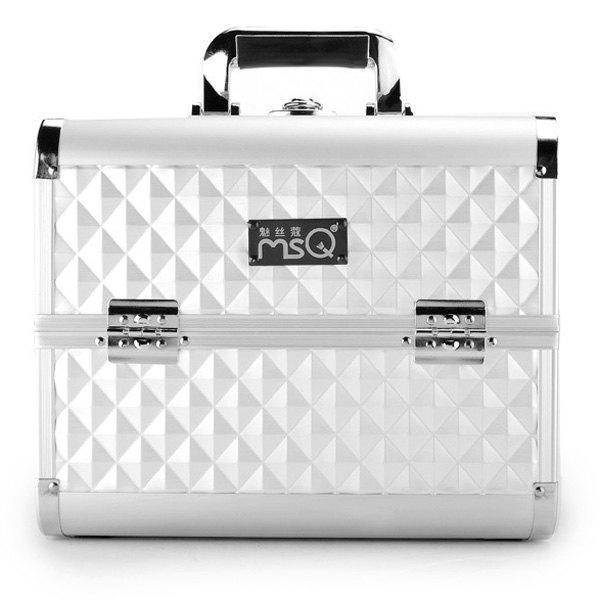 Layered Professional Makeup Case - SILVER