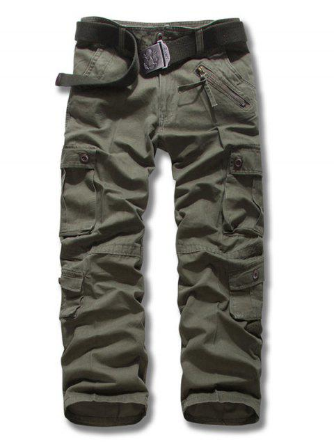 Zipper Fly multi-poches design Plus Size Cargo Pants - Vert Armée 34