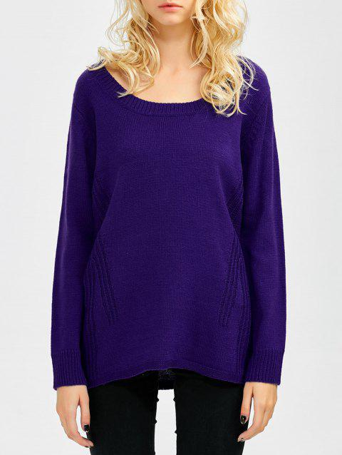 Pull à encolure dégagée Relaxed - Violet ONE SIZE