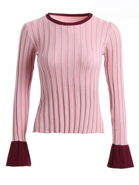 Ribbed Knit de Bell Sleeve Sweater - Papaye ONE SIZE