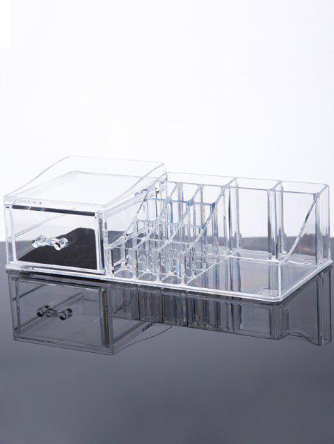 Jewelry Box Makeup Organizer - TRANSPARENT
