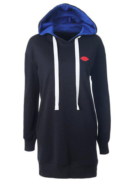 Lip Hooded Jumper Hoodie - BLACK S