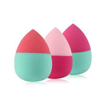 3 Pcs Two Tone Water Drop Shape Makeup Sponges