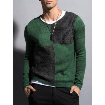 Ribbed Two Tone Sweater