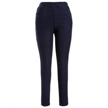 Plus Size Fleece Lined Pencil Pants