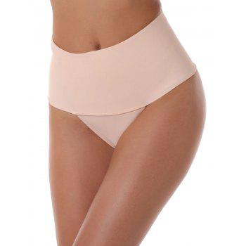 Thongs High Waisted Briefs - COMPLEXION M