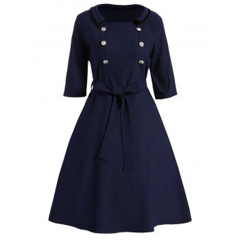 Plus Size Vintage Dress With Belt