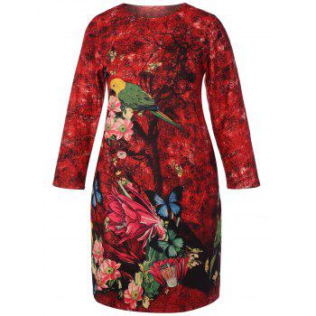 Chinese Painting Plus Size Dress