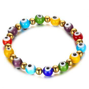 Color Beading Eye Bracelet