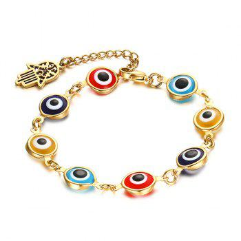 Hamsa Hand Color Eye Bracelet
