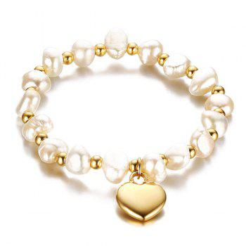 Polished Heart Beading Bracelet