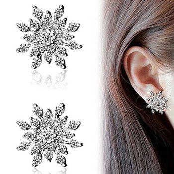 Snowflake Rhinestoned Stud Earrings