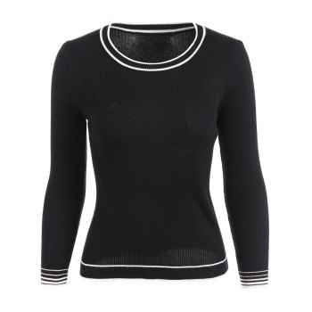 Pullover Ribbed Striped Knitwear