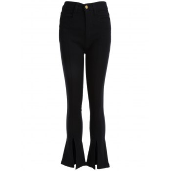 Boot Cut Front Slit Pants