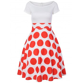 Off The Shoulder Polka Dot A Line Dress