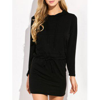 Mini Long Sleeve Hoodie Dress