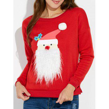 Christmas Slit Drop Shoulder Sweatshirt