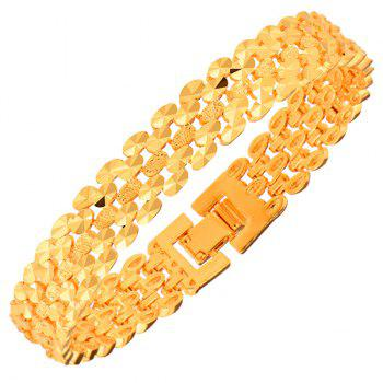 Hollow Out Gold Plated Chain Bracelet
