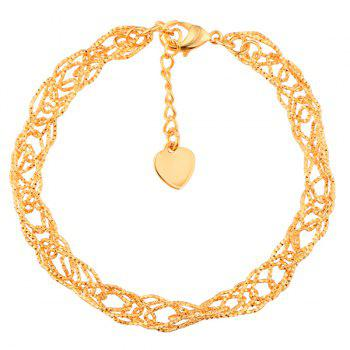 Hollow Out Filigree Gold Plated Chain Bracelet