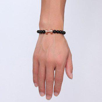 Adorn Barbell Beads Bracelet -  ROSE GOLD