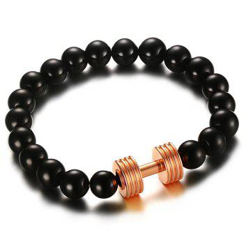 Adorn Barbell Beads Bracelet - ROSE GOLD ROSE GOLD