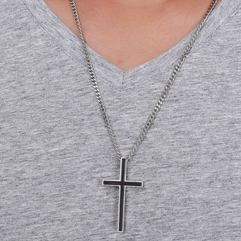 Cross Enamel Pendant Necklace