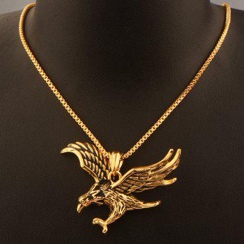 Engraved Eagle Pendant Necklace