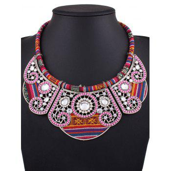 Rhinestone Floral Fake Collar Necklace