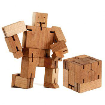 Rubik's Cube Wooden 3D Handicraft Robot Model Toy