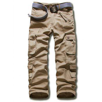 Zipper Fly Multi Pockets Design Plus Size Cargo Pants