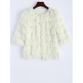 Fringed Faux Fur Cropped Jacket