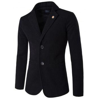 Stand Collar Single Breasted Plus Size Woolen Blends Blazer