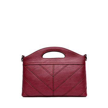 Concise Stitching Faux Leather Handbag